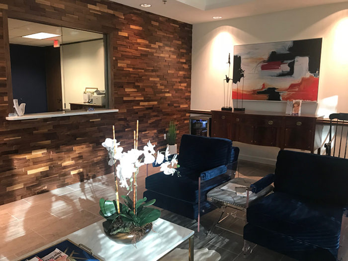 Dr. Amato's lobby at Eyelid & Facial Plastic Surgery Associates in Austin, TX